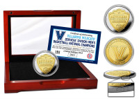 Villanova 2018 NCAA Men's Basketball National Championship 2-Tone Gold and Silver Coin w/Cherry Wood Display Case LE 2,018