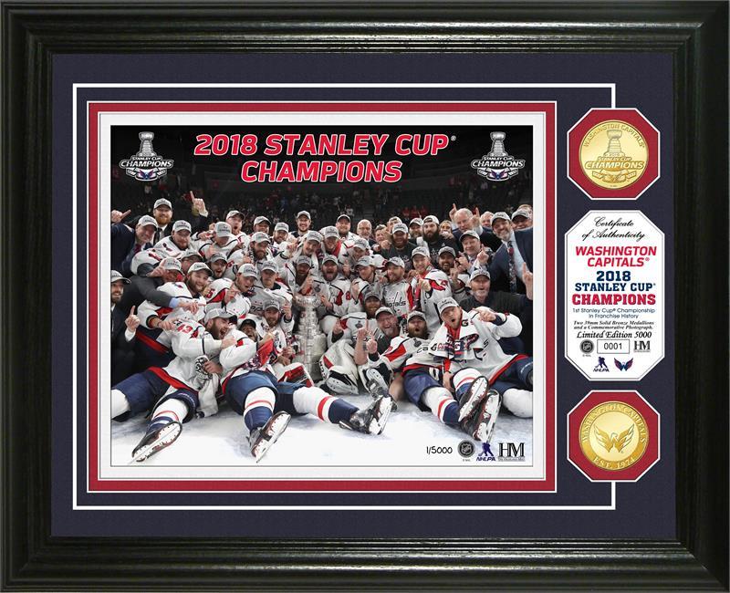 1d61435dd6f ... Washington Capitals 2018 NHL Stanley Cup Champions Celebration Gold Coin  Photo Mint LE 5