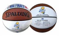 Golden State Warriors Authentic 2018 NBA Finals Champions Spaulding White Panel Basketball