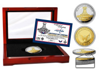 Washington Capitals 2018 NHL Stanley Cup Champions 2-Tone Gold and Silver Coin w/Solid Cherry Wood Case LE 2,018
