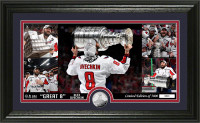 """Washington Capitals 2018 NHL Champions Alex Ovechkin """"Great 8"""" Silver Coin Pano Photo Mint LE 5,000"""
