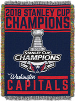 "Washington Capitals 2018 NHL Stanley Cup Champions 48"" x 60"" Tapestry Blanket"