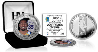 Kevin Durant Golden State Warriors Silver Plated Color Coin LE 5,000
