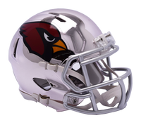 Arizona Cardinals NFL Chrome Speed Riddell Mini Football Helmet