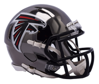 Atlanta Falcons NFL Chrome Speed Riddell Mini Football Helmet