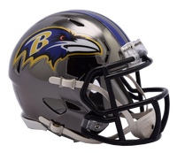 Baltimore Ravens NFL Chrome Speed Riddell Mini Football Helmet