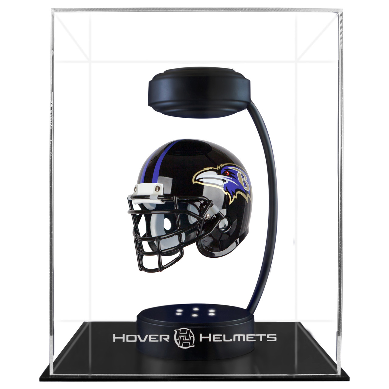 71b2dbcabbb ... Baltimore Ravens NFL Speed Riddell Mini Hover Football Helmet and  Stand. Image 1. Image 1