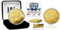 Los Angeles Dodgers vs Boston Redsox 2018 World Series Gold Coin LE 5,000