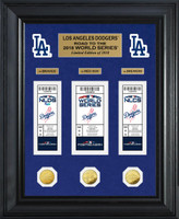 "Los Angeles Dodgers 2018 NL Champions ""Road to the World Series"" Deluxe Gold Gold Coin & Ticket Collection LE 2,018"