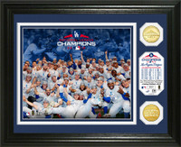 Los Angeles Dodgers 2018 NL Champions Celebration 2pc Gold Coin Photo Mint LE 5,000