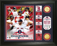 Boston Red Sox 2018 World Series Champions 2pc Gold Coin Banner Photo Mint LE 5,000