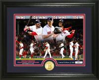 "Boston Red Sox ""Single Season Franchise Wins Record Breaker"" Bronze Coin Photo Mint LE 5,000"