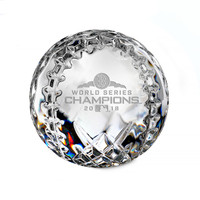 Boston Red Sox 2018 World Series Champions Solid Crystal Baseball LE 5,000