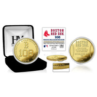 Boston Red Sox 2018 Single Season Franchise 108 Wins Record Breaker Gold Mint Coin LE 5,000