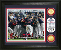 Boston Red Sox 2018 World Series Champions Celebration 2pc Gold Coin Photo Mint LE 5,000