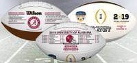 Alabama Crimson Tide 2018-19 CFP Perfect Season Orange Bowl Commemorative Wilson Leather Football LE 5,000