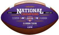 Clemson Tigers 2018 National Champions Commemorative Wilson Leather Football LE 2,018