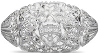 Clemson Tigers 2018 National Champions Solid Mini Crystal Football LE 5,000