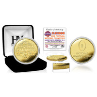 Clemson Tigers 2018 National Champions 24k Gold Coin LE 5,000