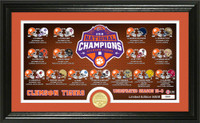 Clemson Tigers 2018 National Champions Season Scores 24k Gold Coin Photo Mint LE 5,000