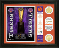 Clemson Tigers 2018 National Champions 2pc 24k Gold Coin Banner Photo Mint LE 5,000
