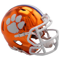 Clemson Tigers Chrome Alternate Speed Mini Football Helmet