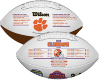 Clemson Tigers 2018 National Champions and 2019 CFP Perfect 15-0 Season Commemorative Wilson Leather Football LE 5,000