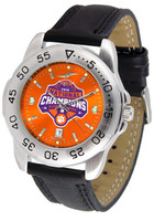 Clemson Tigers 2018 National Champions Leather Sport Watch (Orange or White)