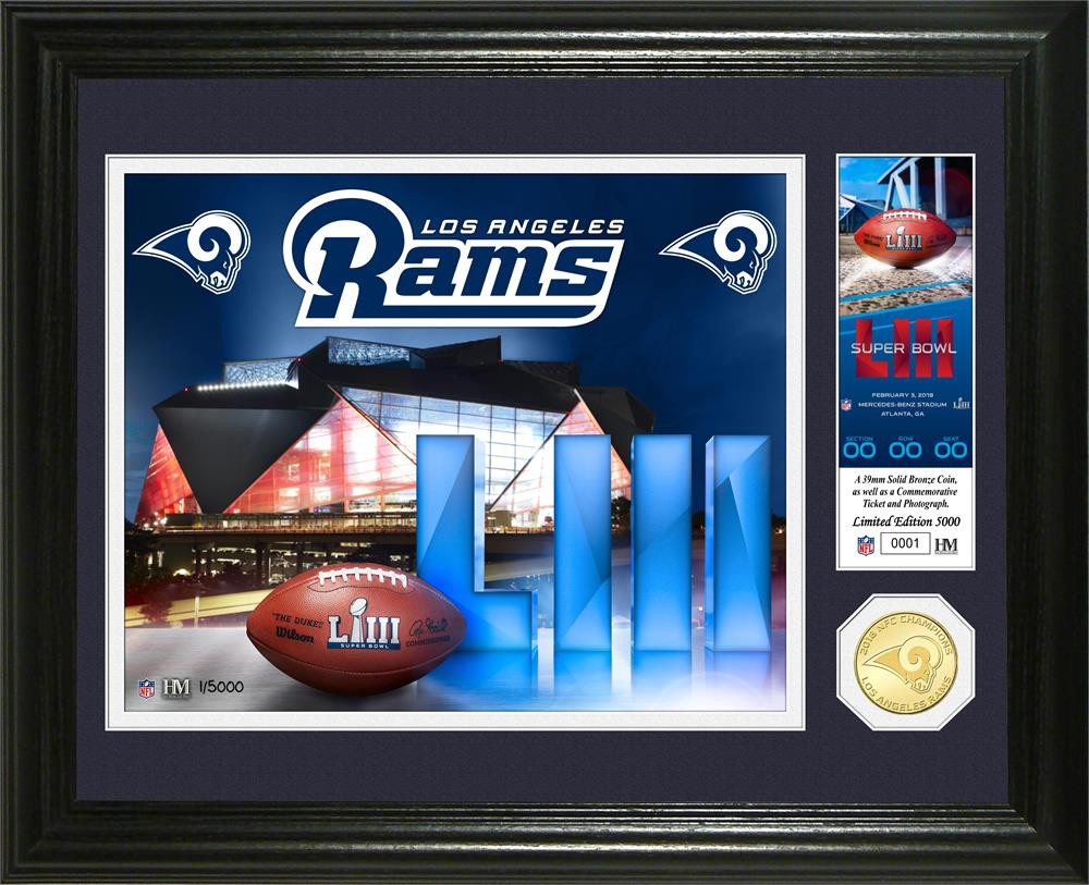 4d8b7b515 Los Angeles Rams 2018 NFC Champions 24k Gold Mint Coin Photo Mint LE ...
