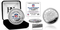 Los Angeles Rams 2018 NFC Champions Game Victory Silver Mint Coin w/Scores LE 10,000