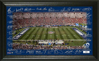 "Los Angeles Rams 2018 Signature Gridiron Collection Framed 12"" x 20"" LE 5,000"