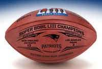 New England Patriots Super Bowl LIII Wilson Leather Football Laser Engraved LE 1,000
