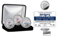 New England Patriots Super Bowl 53 Champions Silver Color Coin Set LE 5,300