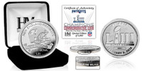 New England Patriots Super Bowl 53 Champions Pure Silver Mint Coin LE 5,000