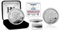 New England Patriots Super Bowl 53 Champions Pure Silver Mint Coin LE 5,000