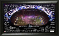 New England Patriots Super Bowl 53 Champions Celebration Signature Grid LE 10,000