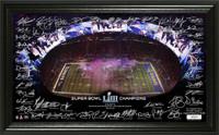 New England Patriots Super Bowl 53 Champions Celebration Signature Grid LE 10,000