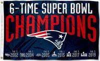 New England Patriots 6X Super Bowl Champions 3' x 5' Team Flag