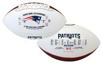 New England Patriots 6X Super Bowl Champions Leather Football LE 5,000