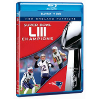 New England Patriots Super Bowl LIII Champions DVD/Blu-ray Combo
