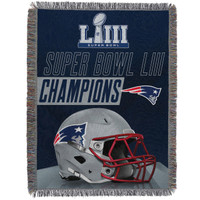 New England Patriots The Northwest Company Super Bowl LIII Champions 48'' x 60'' Woven Tapestry Throw