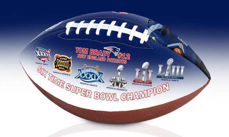 b47fb5450f6 ... New England Patriots Tom Brady 6X Super Bowl Championship Portrait Art  Football Limited Edition 5,000. Image 1 · Image 1 · Image 2 · Image 3