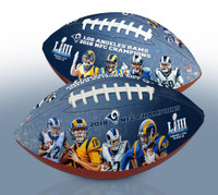 Los Angeles Rams Super Bowl LIII 2018 NFC Champions Portrait Art Wilson Leather Football LE 2,018
