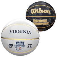 Virginia Cavaliers 2019 NCAA Men's Basketball National Champions Wilson Official Size White Panel Basketball