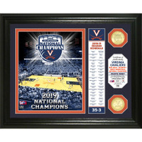 Virginia Cavaliers Highland Mint 2019 NCAA Men's Basketball National Champions 13'' x 16'' Banner 2pc Gold Coin Photo Mint LE 5,000