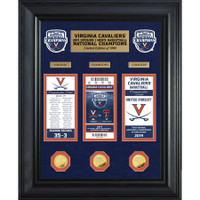 Virginia Cavaliers 2019 NCAA Men's Basketball National Champions 22'' x 18'' 3pc Deluxe Ticket and 3pc Gold Coin Collection LE 1,000