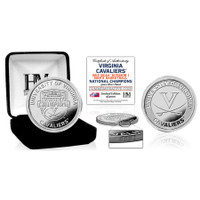 Virginia Cavaliers 2019 NCAA Men's Basketball National Champions Silver Coin LE 5,000