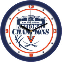 "Virginia Cavaliers 2019 NCAA Men's Basketball National Champions 12"" Round Wall Clock"
