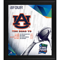 "Auburn Tigers Authentic Framed 15"" x 17"" 2019 NCAA Men's Basketball Tournament March Madness Final Four Bound Collage"