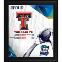 "Texas Tech Red Raiders Authentic Framed 15"" x 17"" 2019 NCAA Men's Basketball Tournament March Madness Final Four Bound Collage"